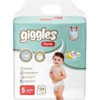Подгузники-трусики детские Giggles 5 junior 11-25 кг, 24 шт