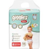 Подгузники-трусики детские Giggles 6 XL 15+ кг, 20 шт