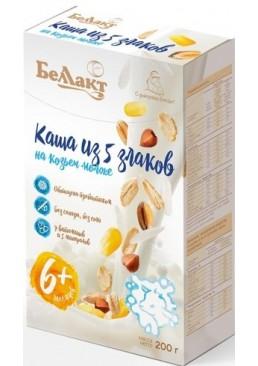 Каша из пяти злаков сухая на козьем молоке Беллакт обогащенная витаминами, минералами и инулином с 6 месяцев, 200 г