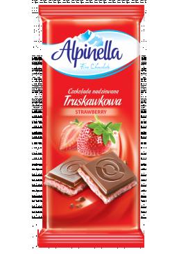 Шоколад Alpinella молочный с клубникой 100 г