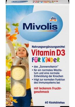 Жевательные витамины для детей Mivolis Vitamin D3, 60 шт