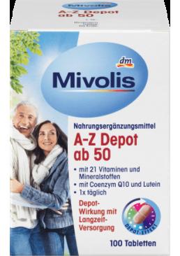 Биологически активная добавка Mivolis A-Z Depot от 50 лет, 100 шт