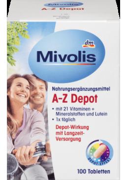 Биологически активная добавка Mivolis A-Z Depot, 100 шт