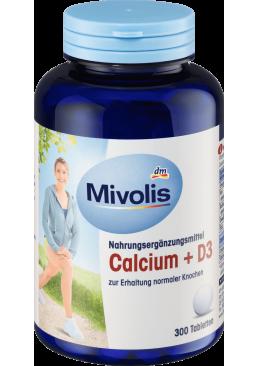 Биологически активная добавка Кальций + D3 таблетки Mivolis, 300 шт