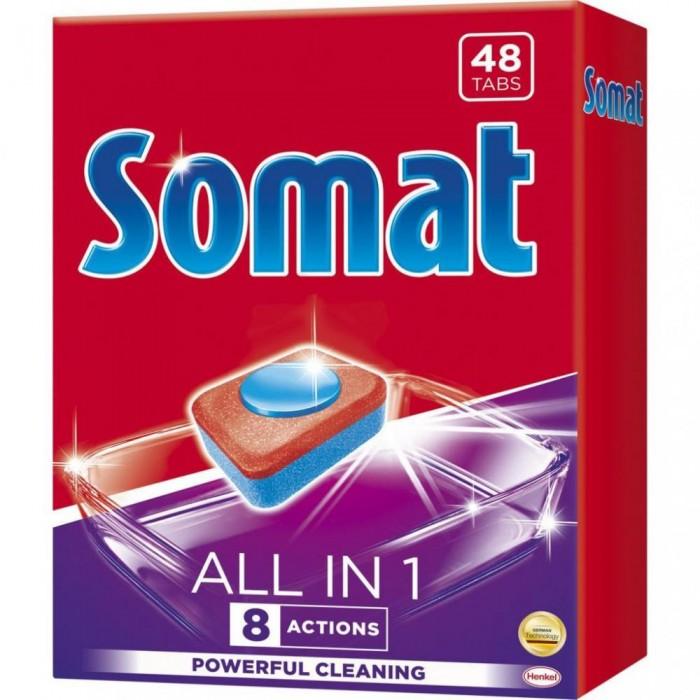 Таблетки для посудомоечной машины SOMAT All in 1 Lemon & Lime, 48 шт -