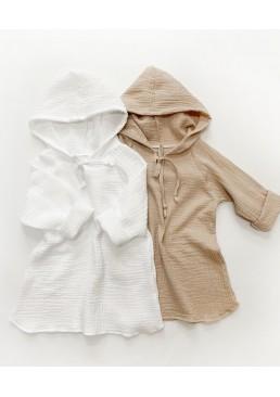 Туника детская для девочек и мальчиков из муслина (размер 92), 1 шт